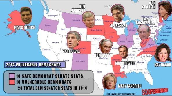 Vulnerable Senate Democrats